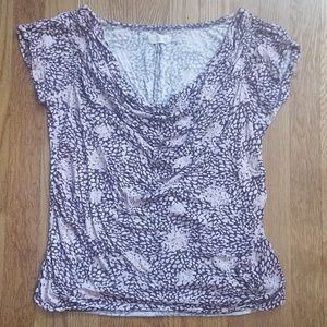 Old Navy Maternity Drape Front Print Top XS